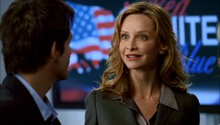 "Calista Flockhart plays conservative commentator Kitty Walker in ""Brothers & Sisters"", her first TV series since the much-discussed ""Ally McBeal."""