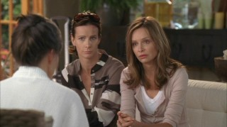 "In spite of better judgment, Sarah (Rachel Griffiths) and Kitty (Calista Flockhart) ask for Nora's advice in ""States of the Union."""