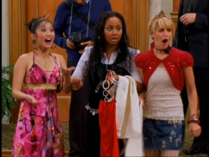 Raven Baxter (Raven-Symon�, center) finds herself at the Tipton, in between London (Brenda Song) and Maddie (Ashley Tisdale) for the Disney Channel's record-setting, three-series crossover.
