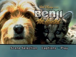 "The extremely basic ""Benji the Hunted"" Main Menu."