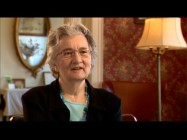 "Author Katherine Paterson appears in ""Behind the Book: The Themes of 'Bridge to Terabithia'."""