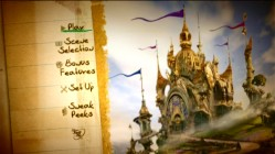 Like everything else chosen to represent the film, the Main Menu opts for fantasy elements.