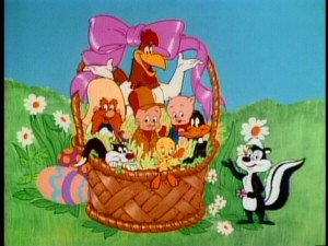 "Eight of the leading Looney Tunes characters featured in this special appear in an Easter basket at the beginning of ""Bugs Bunny's Easter Funnies."" They are Foghorn Leghorn, Porky Pig, Daffy Duck, Pepe Le Pew, Tweety, Sylvester, Yosemite Sam, and Elmer Fudd."