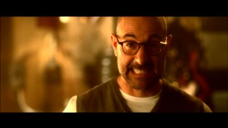 Stanley Tucci gets (or, rather, remains) silly in the blooper reel.