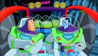 Though they police in different ways, Buzz Lightyear and Warp Darkmatter are buddy cops...in outer space!
