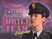 Christy Carlson Romano provides in-character narration for the interactive game Cadet Captain Stone's Drill Team Challenge.
