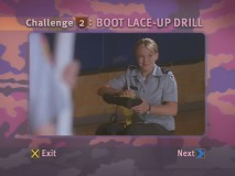 The Boot Lace-Up Drill is one of ten challenges that makeup Cadet Captain Stone's Drill Team Challenge.