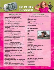 "Plan your own ""Cadet Kelly""-themed party with the DVD-ROM documents provided and hope somebody comes!"