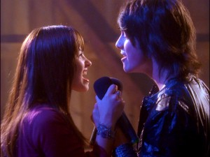 Mitchie and Shane try their best to top Troy and Gabriella for cutest Disney Channel couple duet.