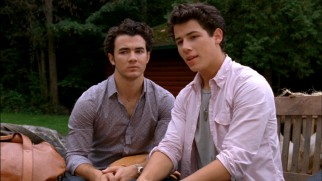 "Get a good look at Kevin Jonas (left) while you can -- he won't be in ""Camp Rock 2"" much more after this. His brothers Nick (right) and Joe fare better."