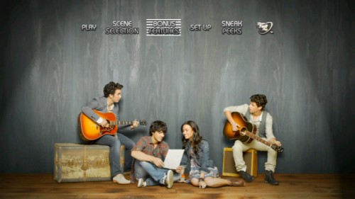 Camp Rock 2's DVD main menu also works as a ready-made cover for the next Hollister catalog.