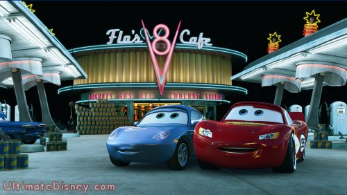 "Sally and Lightning in ""Mater and the Ghostlight"", an all-new short premiering on the ""Cars"" DVD."