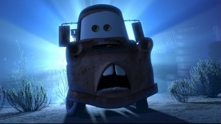 "Prankster Mater is mighty afeard of the fabled Ghostlight in ""Mater and the Ghostlight."""