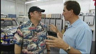 "Director John Lasseter and three-time NASCAR Winston Cup champion Darrell Waltrip discuss the excitement of racing in ""Inspiration for 'Cars'."""