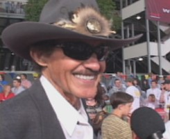 "Richard Petty, a.k.a. ""The King"", has a ""drive-on"" role in ""Cars."""