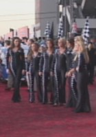 Some NASCAR girls are suited up for the evening.