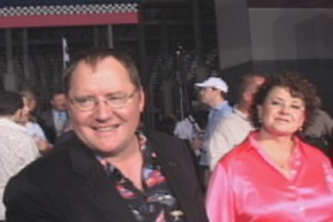 """Cars"" marks the fourth feature-length directorial effort for John Lasseter, who stands here next to his wife."