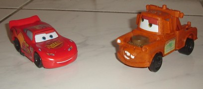 Cars and Mater, in Happy Meal Toy form.