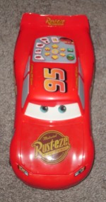 The ultra-cool Fast Talkin' Lightning McQueen toy car.