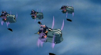 The castle isn't the only thing in the sky; these air pirates are up there too.