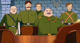 Whether fat or thin, all the soldiers in Colonel Muska's army must have a mustache.