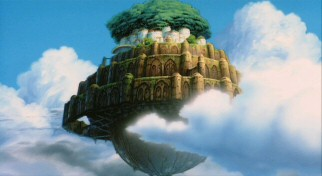 "As in Swift's ""Gulliver's Travels"", the island in the sky is named Laputa, a fact Disney drops from the title to avoid offending Spanish speakers."