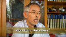 "Producer Toshio Suzuki recalls the birth of his longtime collaboration with Miyazaki-san in the featurette ""Producer's Perspective: Meeting Miyazaki."""