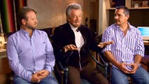 "The tan man in the middle, Stephen J. Cannell, can't count ""Castle"" among his many dramatic TV creations, but that doesn't stop him from being the center of attention and praise in ""'Castle''s Godfather."""