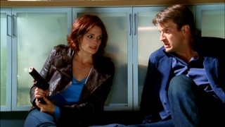 Beckett and Castle enter quick-thinking mode when a suspect begins shooting in a stranger's kitchen.