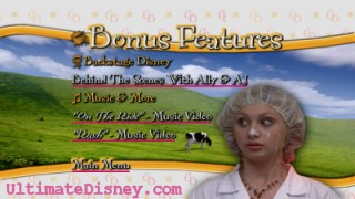 """Cow Belles"" Bonus Features Menu"