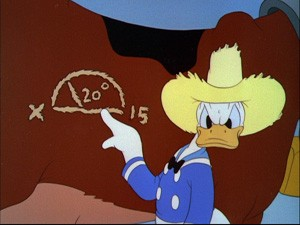 "Donald does some math in ""Old MacDonald Duck"""