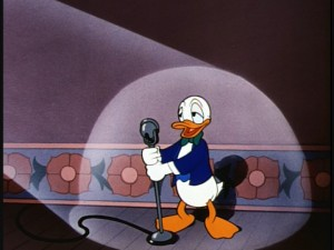 "Donald as a world-renowned singer in ""Donald's Dilemma."""