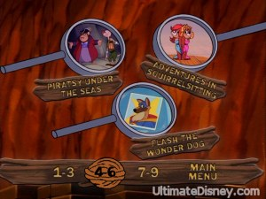 A page from Disc 1's Episode Selection menu