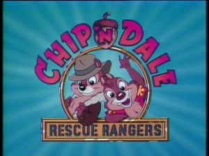 "The opening title logo for ""Chip 'n Dale Rescue Rangers."""