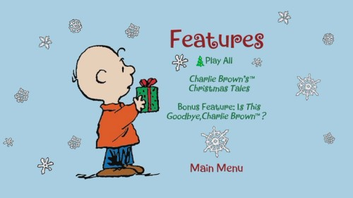"The DVD lists ""Is This Goodbye, Charlie Brown"" on the Features menu but calls it a bonus feature, letting you consider it either one while admiring the Christmas tree cursor."