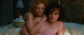 Lea (Michelle Pfeiffer) hides her old bones behind the hairless body of the lover half her age (Rupert Friend).