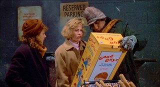 "If you'd like, ""Child's Play"" can be viewed as a cautionary tale against buying toys from back alleys. That's exactly what poor single mother Karen Barclay (Catherine Hicks) and best friend Maggie (Dinah Manoff) do, from a creepy peddler (Juan Ramirez)."