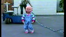 "Chucky: The bald and drunk years? This test footage appears in ""Chucky Building a Nightmare."""