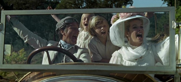 With a car like Chitty Chitty Bang Bang, who wouldn't randomly break out in song during a drive? Not Caractacus Potts (Dick Van Dyke), Jemima (Heather Ripley), Jeremy (Adrian Hall), and Truly Scrumptious (Sally Ann Howes).