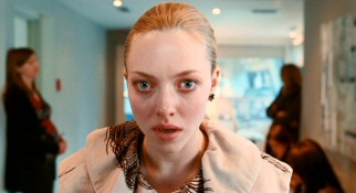 Chloe's (Amanda Seyfried) big blue eyes seem even bigger in her dramatic close-up look at the camera.
