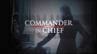"The original opening title logo for ""Commander in Chief."""