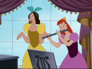 Her ugly stepsisters don't perform the song as well.