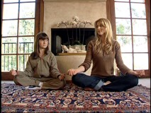 "Alyson Stoner (a.k.a. ""Sally"") tries some yoga with real-life princess Catherine Oxenberg in the surprisingly substantial (and hardly related) ""House of Royalty"" 'activity.'"