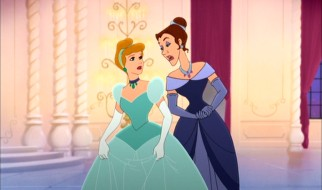"In ""Aim to Please"", Cinderella gets nagged by advisor Prudence on the proper royal ways to do everything."