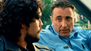 Vince Rizzo (Andy Garcia) lays down some ground rules for his new houseguest, his illegitimate son Tony (Steven Strait).