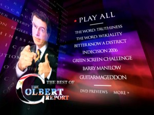 The DVD's patriotic main and nearly only menu provides access to 19 sections, though the disc serves up more than 40 chapters.