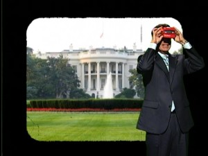 Stephen uses his View-Master to learn more about the district of the District of Columbia, which he does not consider part of the United States, despite being its capital.