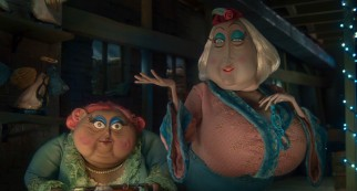 Despite living and working together for years, aging actresses Miss Forcible and Miss Spink (voiced by British comedy team Dawn French and Jennifer Saunders) don't often see eye to eye.