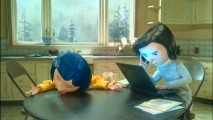 Coraline's Mother doesn't even look up from her laptop despite Coraline's sudden apparent death in this deleted scene.