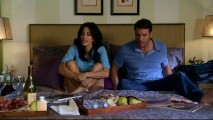 "Jules and Jeff (Scott Foley) assemble every item they could conceivably need in the amusing deleted scene ""Bed Island."""